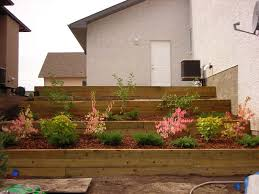Small Picture wooden retaining wall steps Gentle Earth Design Studio Portfolio