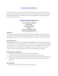 Retail Cashier Resume Resume Templates