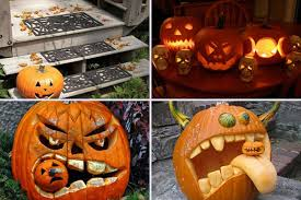 ... Enchanting Accessories For Halloween Decoration With Cute Couple Pumpkin  Carving Ideas : Top Notch Picture Of ...