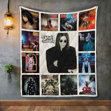 On ozzy's new cd under cover is full of newly recorded covers of john lennon's 'woman', joe walsh's 'rocky mountain way' and the moody blues' 'go now', mountain's 'mississippi queen', king crimson's '21st century schizoid man', the jeff beck. Ozzy Osbourne Album Covers Quilt Blanket 909music