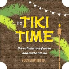Hula Party Invitations Rustic Wood Time Luau Party Invitation