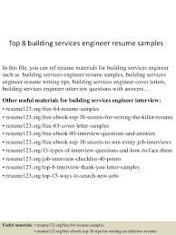 top 8 building services engineer resume samples 1 638jpgcb1431417404 building inspector resume