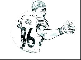 Football Coloring Pages Players Eagles Player Nfl Mebelmag