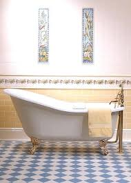 victorian bathroom tiles pattern blue and white