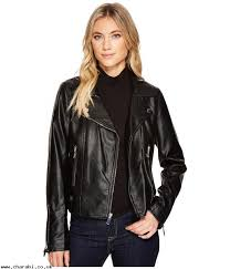 women ping french connection faux leather moto jacket t81oh19yh