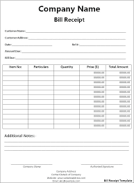 receipt template xls salary slip salary slip format word doc invoice template download