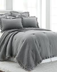 argos grey double duvet sets 3 piece stonewashed ruffle comforter set for the home