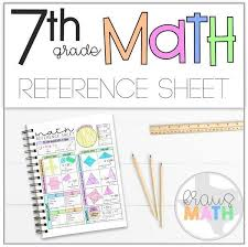 7th Grade Math Staar Reference Chart 7th Grade Math Reference Sheet