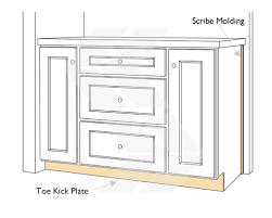 cabinet toe kick trim. scribe molding and toe kick panel cabinet trim