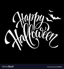 Happy Halloween Message Design Background Vector Image On Vectorstock