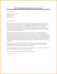 Nurse Manager Cover Letter Twentyeandi Bunch Ideas Of Sample Cover