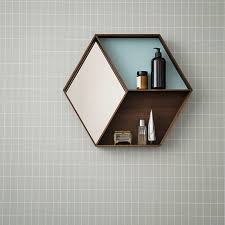 view in gallery wall mirror and shelf from ferm living