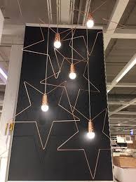 Ikea Strala Light Ikea Strala Star Pendant Hanging Lamp Rose Gold Furniture