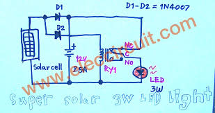 super solar led light circuit as figure 3 the complete circuit diagram