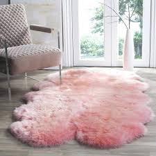 prairie natural pelt sheepskin wool solid pink rug 4 x 6 p o r t l a n d rugs and flooring dusty pink rug faux sheepskin