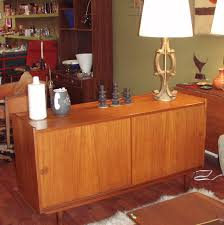 vintage mid century modern danish teak credenza buffet perfect for storage with is 2