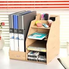 desk office file document paper. Wooden File Organizer Office Paper Tray Made Wood Document Desk Desktop Holder K