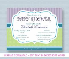 Microsoft Word Invitation Template Bridal Shower Templates Best Of