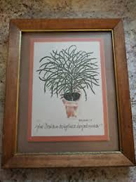 1974 Wendy Wheeler Plant Litho Print Framed Plant Mom Granny Junk Boho  Decor | eBay