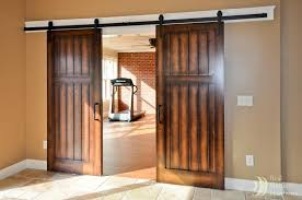 sliding barn doors interior. the barn doors interior dark wood sliding