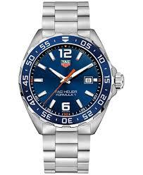 tag heuer formula 1 watches macy s tag heuer men s swiss formula 1 stainless steel bracelet strap watch 43mm waz1010 ba0842