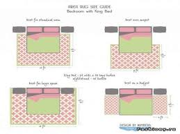 area rug size guide for bedroom with king bed for area rug size for queen bed