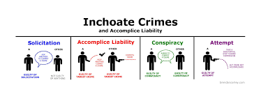 Criminal Law Elements Chart Inchoate Crimes And Accomplice Liability Bar Exam Study