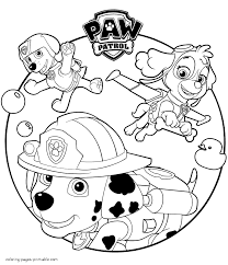 Small Picture Paw Patrol cartoon coloring sheets to print