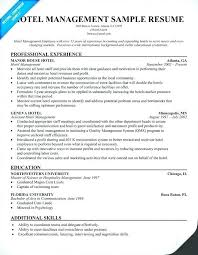 Sample Travel Management Resume Resume For Hotel Hospitality Management Resume Hotel