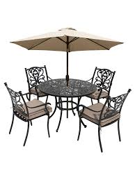 Buy lg outdoor devon 4 seater garden dining table and chairs set with parasol bronze