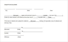 Basic Promissory Note Extraordinary Promissory Note Template For Family Member Kenicandlecomfortzone