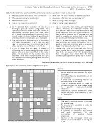 Job Interview Crossword Business