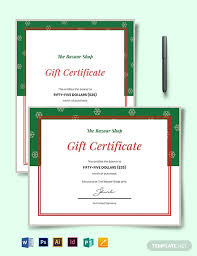 Download 10 Gift Certificate Templates Word Excel Psd