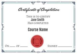 Certificates Of Completion Templates Certificate Of Completion Templates Customize In Seconds