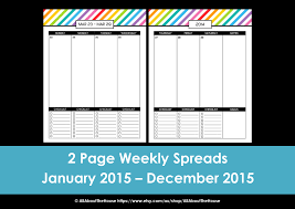 Weekly Calendars To Print 2015 My 2015 Printable Rainbow Daily Planner All About Planners
