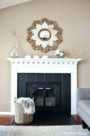 painted marble fireplace before and after fireplace makeover with contact paper