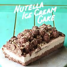 Nutella Ice Cream Cake The Scran Line Tastemade