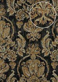 Barok Behang Atlas Cla 602 9 Vliesbehang Gestempeld Met Bloemmotief