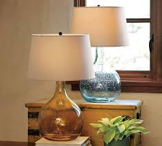 colored glass lamp pottery barn