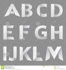 Abstract Paper Font Letter 1 Stock Vector Illustration Of