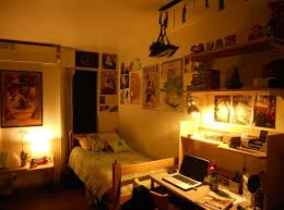 college apartment decorating ideas with small bedroom and lighting