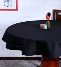 cotton black table cloth by lushomes