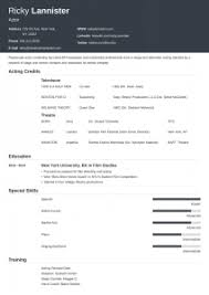 Acting Resume Template Download Acting Resume Template Free Musical Theatre Word Google Docs