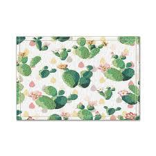ly pattern cactus flowers bath rug non slip door mat 60x40cm bath mat bathroom rugs cv5