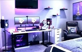 game room setup setupexe gaming setups for small spaces bedroom suggestions