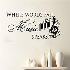 music notes in words amazon com fridoe wall sticker decal mural window where