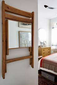 small space solutions furniture. smallspace solutions a mirror on the under seat of hanging folding chair small space furniture