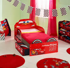 Lightning Mcqueen Bedroom Furniture Disney Cars Lightning Mcqueen Kids Toddler Bed With Underbed