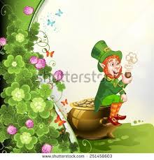 leprechaun pot of gold stock images  royalty free images   vectors    leprechaun sitting on a pot of gold and holding a pipe