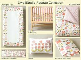 fabulous dwell studio crib bedding we heart the rosette by dwell studio for a sweet baby girl dwellstudio owls crib set